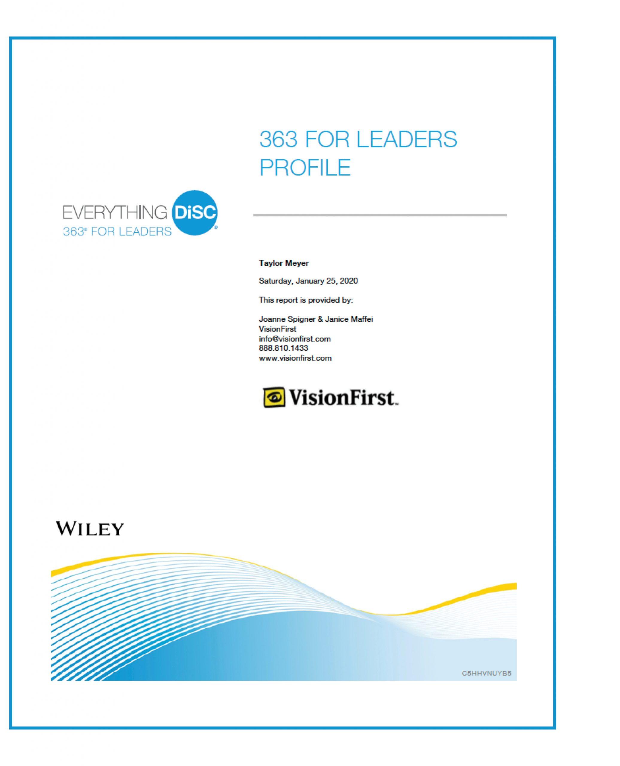363 for Leaders sample report box